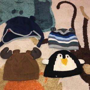 Toddler winter hats bundle.